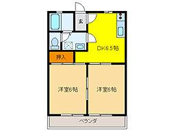 サンコーポNo12[1階]の間取り