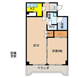 エピセル21[3階]の間取り