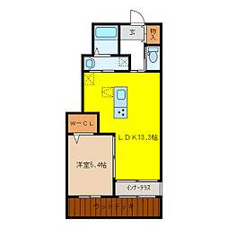 (仮)岐南町徳田H様新築アパート[1階]の間取り