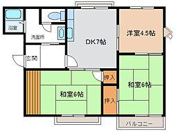 エステート大豆塚II[205号室]の間取り