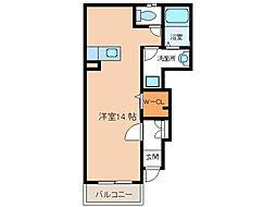パルフェ和泉[1階]の間取り