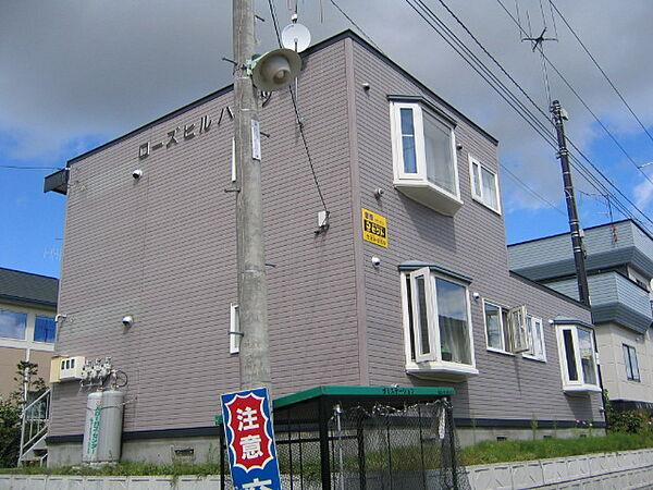 北海道北見市高栄東町4丁目の賃貸アパートの外観