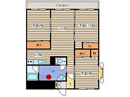 北海道北見市常盤町5丁目の賃貸マンションの間取り