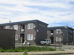 北海道北見市北上の賃貸アパートの外観