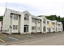 北海道北見市東陵町の賃貸アパートの外観