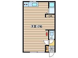 JR石北本線 北見駅 徒歩16分の賃貸アパート 1階ワンルームの間取り