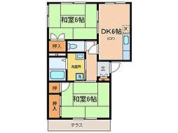 パークハウス瀬田[1階]の間取り