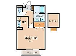 碧ハイツA・B[2階]の間取り