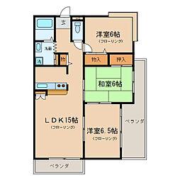 瀬田グランドハイツ[3階]の間取り