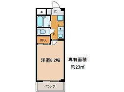 第2コーポ朝倉[2階]の間取り