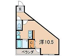 フェイム瀬田[2階]の間取り