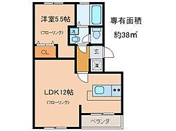 東晃マンション[4階]の間取り