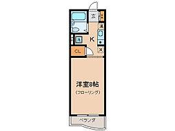 コーストハイツ友湖[3階]の間取り