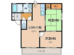 グランヴィア21[2階]の間取り