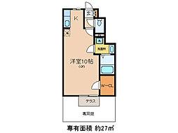 ジュネスヤマモト[1階]の間取り