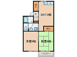レイクハイム瀬田[2階]の間取り