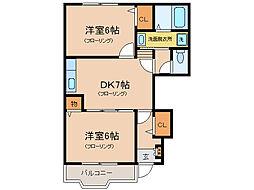 フローリッシュガーデンI・II[1階]の間取り
