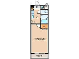 APEXFLAT R[1階]の間取り