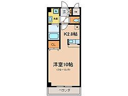 新風館[6階]の間取り