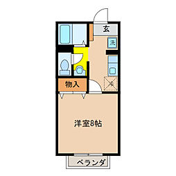 リバティおうみ[2階]の間取り