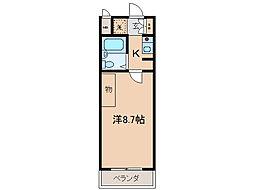 フリ-ポート庄山[2階]の間取り