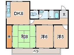 中津川コーポ[1階]の間取り