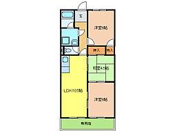 サンシャイン新塚[2階]の間取り