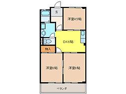 加藤シティハイツ[4階]の間取り
