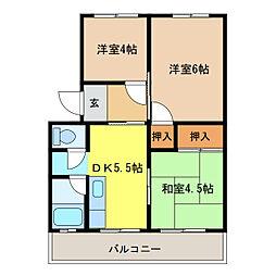 マンション大塔[3階]の間取り