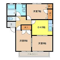 ピューラII[2階]の間取り