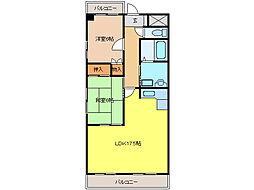 スプリングハイツ3[3階]の間取り