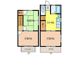 [テラスハウス] 愛知県江南市赤童子町福住 の賃貸【/】の間取り