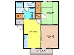 プレジールタクミA・B[2階]の間取り