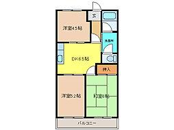 セゾン2[1階]の間取り