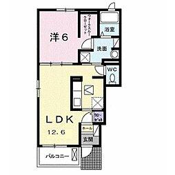 JR内房線 袖ヶ浦駅 バス8分 金田中島東下車 徒歩3分の賃貸アパート 1階1LDKの間取り