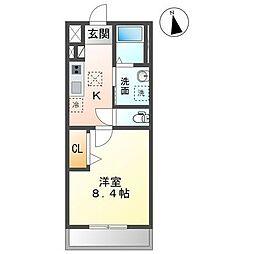 JR内房線 長浦駅 バス13分 笠上橋下車 徒歩5分の賃貸アパート 1階1Kの間取り