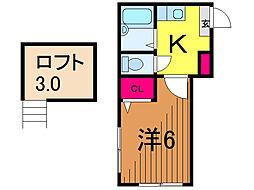 東京都葛飾区亀有2丁目の賃貸アパートの間取り