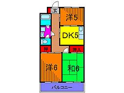 ヨコタハイツ[1階]の間取り