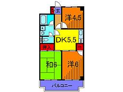 東京都葛飾区亀有1丁目の賃貸マンションの間取り