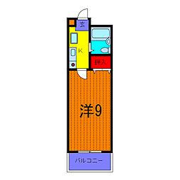 シルフィード六木[3階]の間取り