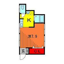 重田コーポ[1階]の間取り