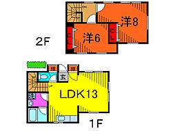 [テラスハウス] 東京都葛飾区新宿2丁目 の賃貸【東京都 / 葛飾区】の間取り