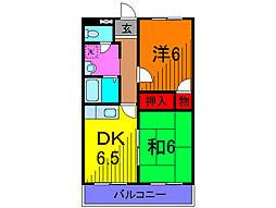 FKマンション[5階]の間取り