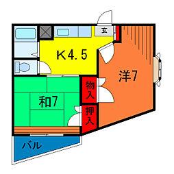 STロイヤルマンション[2階]の間取り