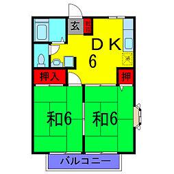 東京都葛飾区東金町8丁目の賃貸アパートの間取り