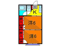 百和コーポ[2階]の間取り