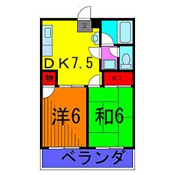 フジタコーポヤシオ[2階]の間取り