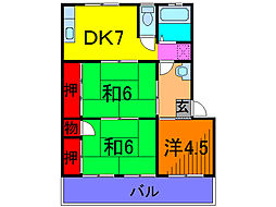 塚田ハイツ[1階]の間取り
