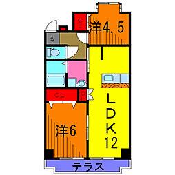 エレガンス幸田[3階]の間取り