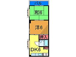 ベルシャトウ七番館グランテージ[1階]の間取り
